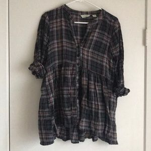Anthropologie Babydoll Button Down